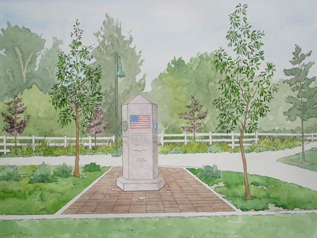 Veterans Monument Drawing