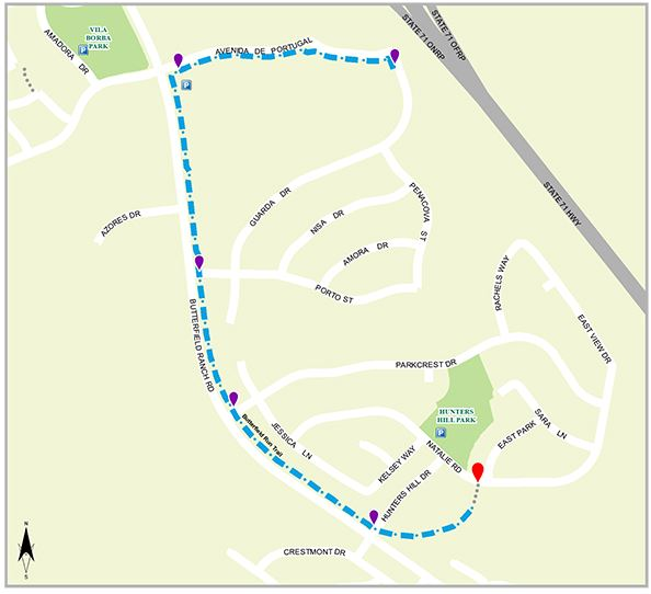 Butterfield Run Trail Map